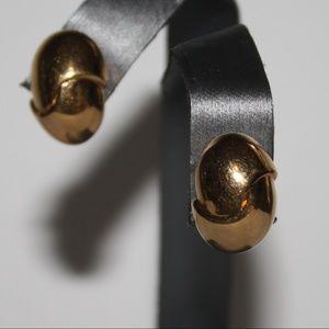 Vintage gold earrings for pierced ears